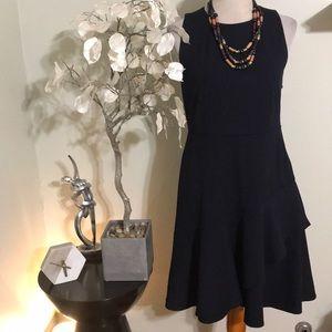 ANN TAYLOR DARK NAVY BLUE DRESS